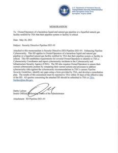 TSA Critical Pipeline Cybersecurity Assessment Framework