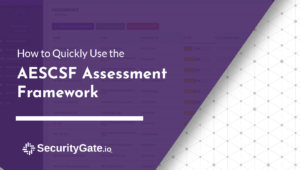 how to quickly use the aescsf assessment framework